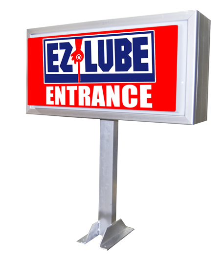 Quick Lube Entrance Sign